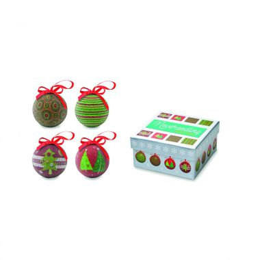 Multicolor Kerstballen set